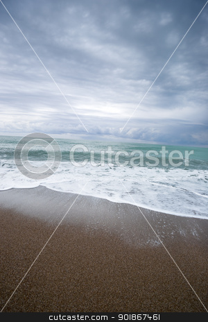 Sea. stock photo, The Mediterranean Sea, cloudy sky. Turkish seaside. aRGB. by Piotr Skubisz