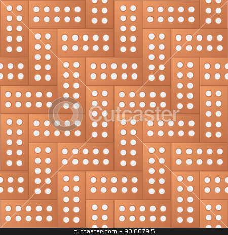Brick pattern background stock vector clipart, Brick pattern with seamless design with repeating concept by Michael Travers