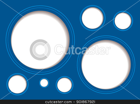 Shadow white hole background stock vector clipart, Blue abstract background with white hole and drop shadow by Michael Travers