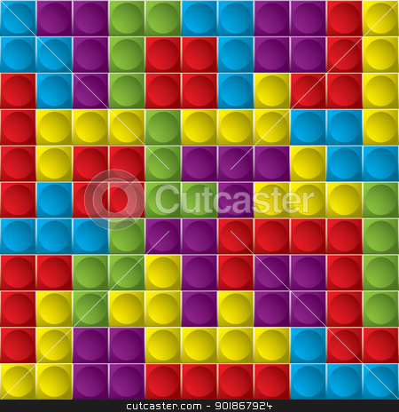 Tetris board background stock vector clipart, Tetris colorful game board with shapes that make great background by Michael Travers