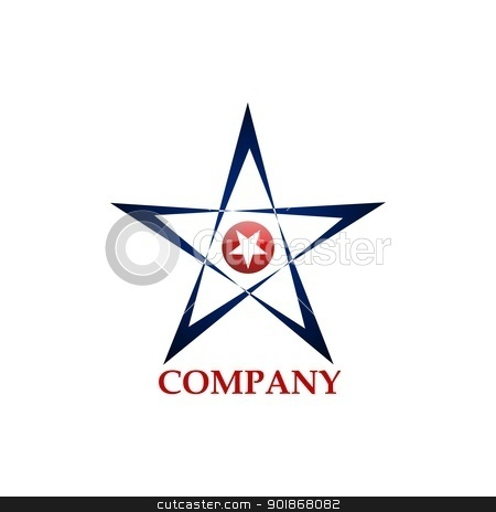 Star's Logo stock vector clipart, Corporate design concept - Star Logo by rmrlpe