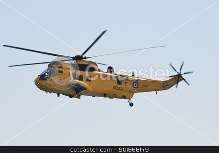 Westland Sea King HAR3 helicopter stock photo, A Westland Sea King HAR3 helicopter of the RAF Search and Rescue squadron performs at the Airbourne airshow at Eastbourne in East Sussex, England on August 11, 2012. by newsfocus1