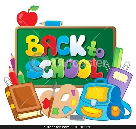 Back to school thematic image 2 stock vector clipart, Back to school thematic image 2 - vector illustration. by Klara Viskova