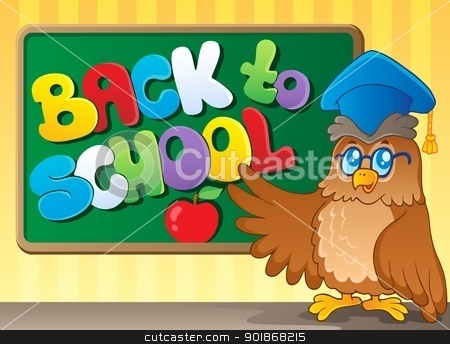 Back to school thematic image 3 stock vector clipart, Back to school thematic image 3 - vector illustration. by Klara Viskova