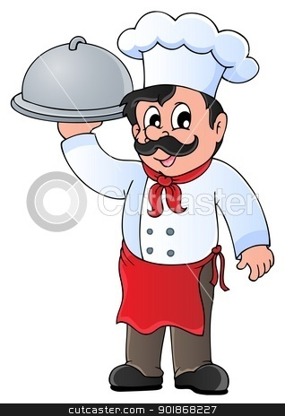 Chef theme image 4 stock vector clipart, Chef theme image 4 - vector illustration. by Klara Viskova