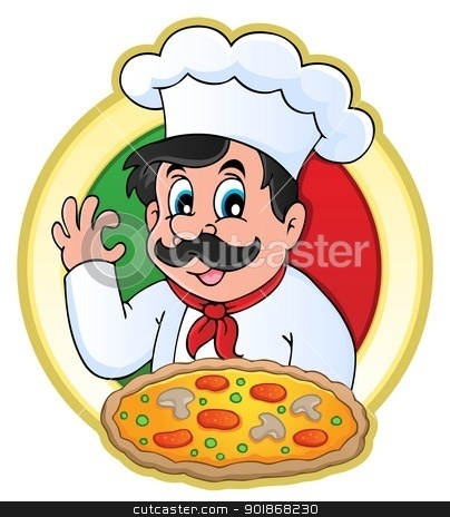 Chef theme image 7 stock vector clipart, Chef theme image 7 - vector illustration. by Klara Viskova