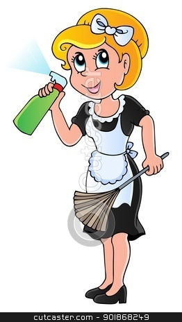 Housewife theme image 1 stock vector clipart, Housewife theme image 1 - vector illustration. by Klara Viskova