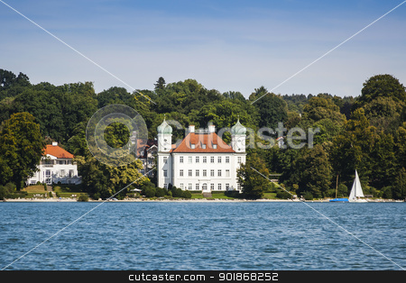 Pocci Castle at Starnberg lake stock photo, An image of the Pocci Castle at Starnberg lake by Markus Gann