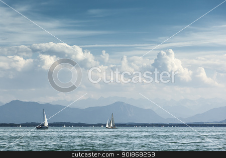 sailing at Starnberg lake stock photo, An image of sailing at Starnberg lake by Markus Gann