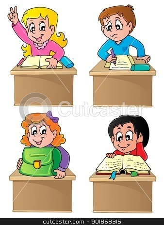 School pupils theme image 1 stock vector clipart, School pupils theme image 1 - vector illustration. by Klara Viskova