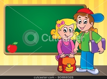 Schoolboard theme image 3 stock vector clipart, Schoolboard theme image 3 - vector illustration. by Klara Viskova