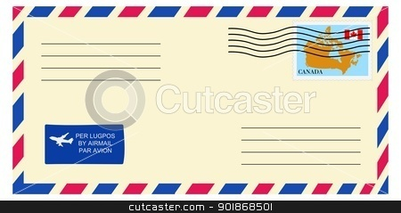 letter to/from Canada stock vector clipart, letter to/from Canada by Oleksandr Kovalenko