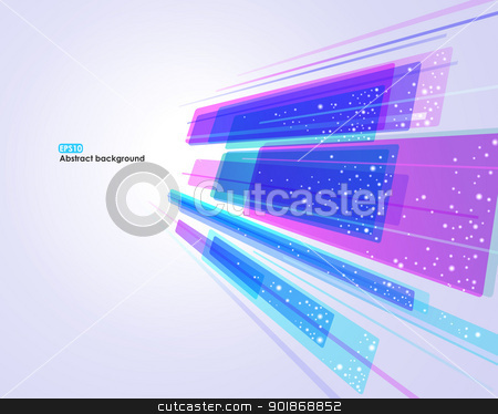Abstract vector EPS10 background stock vector clipart, Abstract glowing EPS10 vector background for business card by Allaya