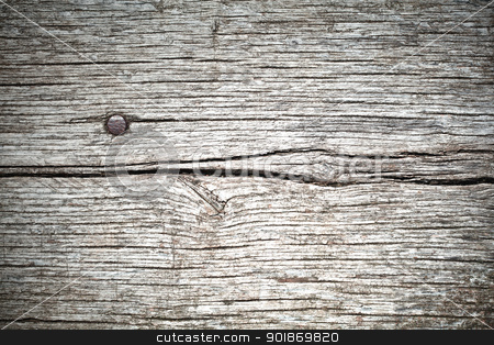 Background Wood texture and nail stock photo, Background composed of planks of old wood and a nail by tristanbm