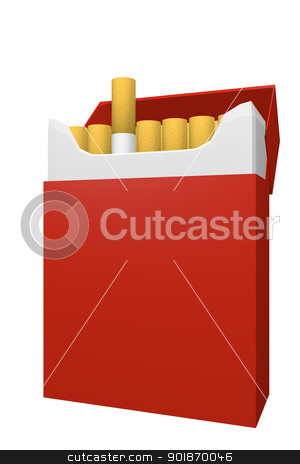 Packet of cigarettes stock photo, Packet of cigarettes by genialbaron