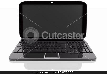 Black laptop stock photo, Black laptop by genialbaron
