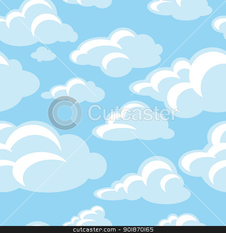 decorative seamless pattern stock vector clipart, abstract decorative seamless pattern background vector illustration by SelenaMay