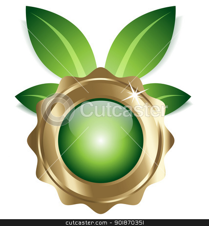 Ecofriendly icon/symbol/label/element stock vector clipart, An illustration of ecofriendly designed icon/emblem for multipurpose creative needs by Vladimir Repka