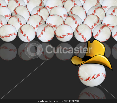 Cowboy Baseball. stock photo,  by WScott