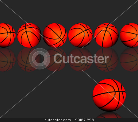 Basketballs. stock photo, Basketball, ready for your type. by WScott