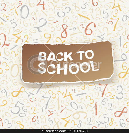 Back to school on chaotic numbers seamless pattern. Vector, EPS1 stock vector clipart, Back to school on chaotic numbers seamless pattern. Vector, EPS10 by pashabo