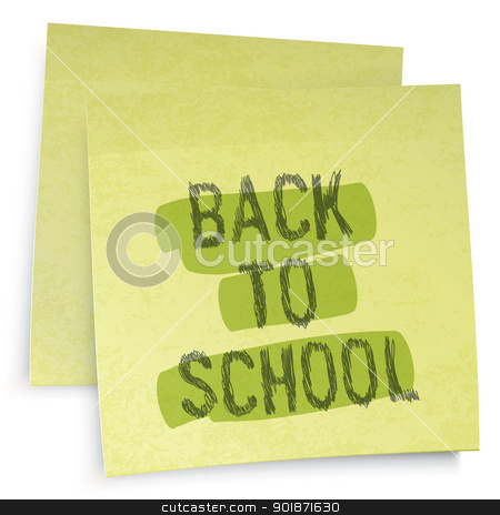 Back to school reminder. Vector illustration, EPS10 stock vector clipart, Back to school reminder. Vector illustration, EPS10 by pashabo