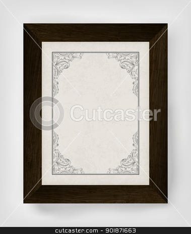 Vintage border with wooden frame. Vector illustration, EPS10 stock vector clipart, Vintage border with wooden frame. Vector illustration, EPS10 by pashabo