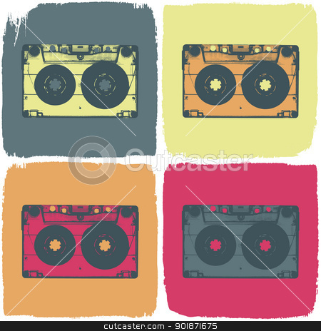 Audio cassette pop-art concept. Vector, EPS8 stock vector clipart, Audio cassette pop-art concept. Vector, EPS8 by pashabo