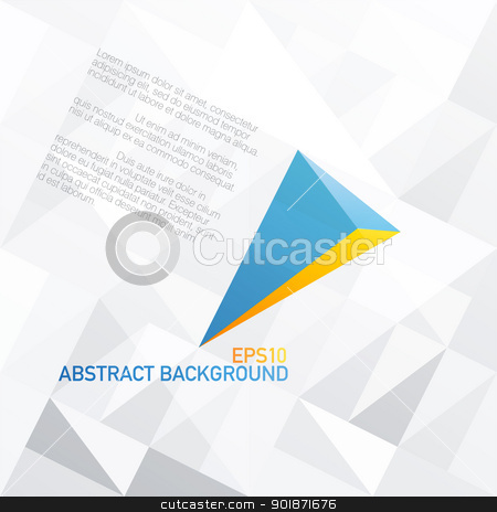 Blue arrow with orange accent. Abstract background design, vecto stock vector clipart, Blue arrow with orange accent. Abstract background design, vector, EPS10 by pashabo