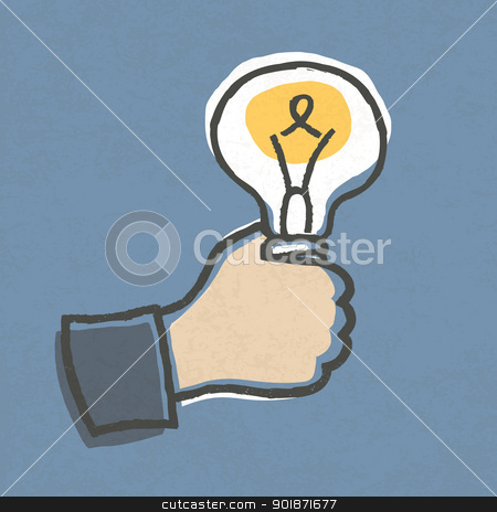 Businessman with Idea Bulb. Hand-drawn vector illustration, EPS1 stock vector clipart, Businessman with Idea Bulb. Hand-drawn vector illustration, EPS10. by pashabo