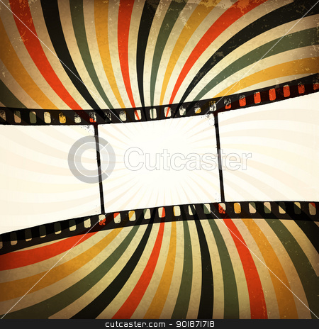 Grunge film strip background. Vector, EPS10 stock vector clipart, Grunge film strip background. Vector, EPS10 by pashabo