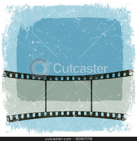 Grunge film strip poster. Vector, EPS10 stock vector clipart, Grunge film strip poster. Vector, EPS10 by pashabo