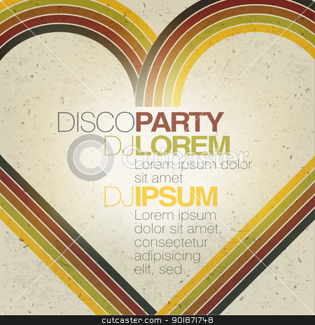 Retro disco party flyer design template. Vector, EPS10 stock vector clipart, Retro disco party flyer design template. Vector, EPS10 by pashabo