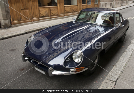 Jaguar E-Type stock photo, An iconic Jaguar E-Type parked in the street. by Abdul Sami Haqqani