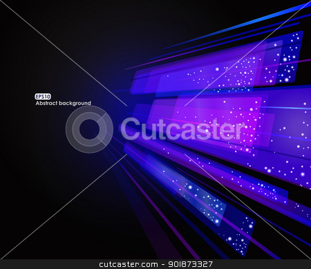 Abstract glowing EPS10 background stock vector clipart, Abstract glowing EPS10 vector background in blue tones by Allaya