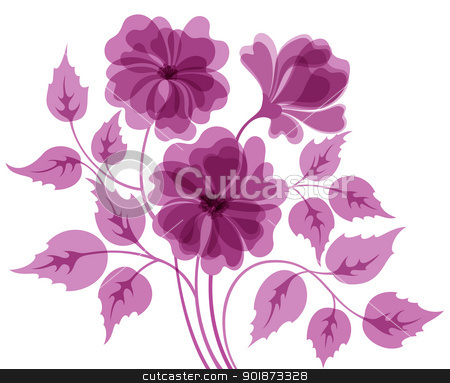 Colorful flower background stock vector clipart, Abstract EPS10 colorful flower background in purple tones by Allaya