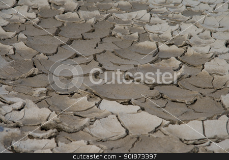 Dry River stock photo, Dried up riverbed after the long summer by 35millimetre