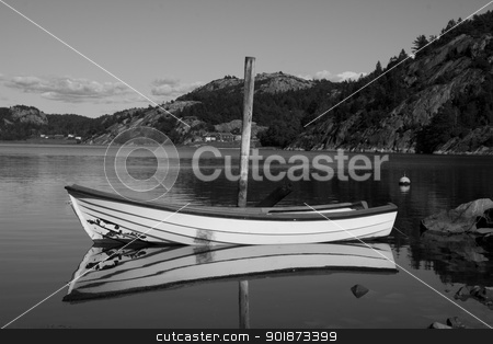 Fishing Boat stock photo, Solitary fishing boat on Swedish Lake by Paul Murray Photography