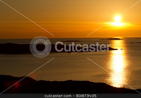 Swedish Winter Afternoon stock photo, Bright sunset in Lysekil, Sweden by 35millimetre