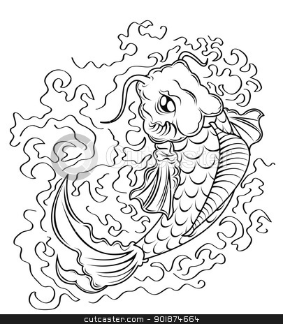 koi fish vector  stock photo, koi fish vector  by Rusu Grigore