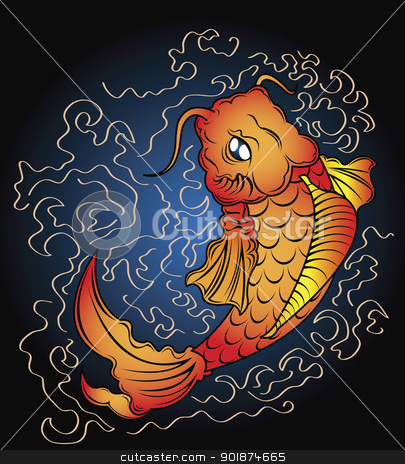koi vector stock photo, koi vector by Rusu Grigore
