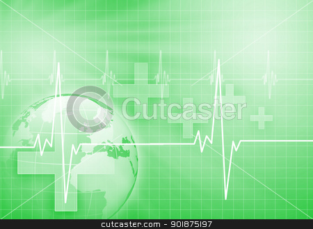Heart beat illustration stock photo, Image of heart beat against colour background by Sergey Nivens