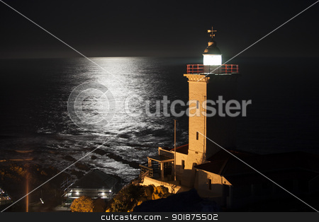 Lighthouse reflection stock photo, Image of lighthouse in mosselbay south africa by Fiona Ayerst Underwater Photography