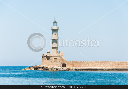 lighthouse in  Chania stock photo, lighthouse by Nanisimova