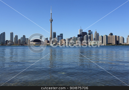Toronto cityscape under clear sky stock photo, Photo of the Toronto skyline under a clear sky. by © Ron Sumners