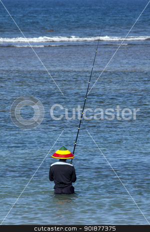Fisherman, Bali stock photo, Fisherman, Bali by Kevin Hellon