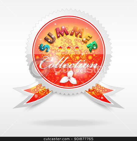 Vector Badge. Summer collection stock vector clipart, Vector realistic cool badge, summer collection, format eps10 by Alex Gontar