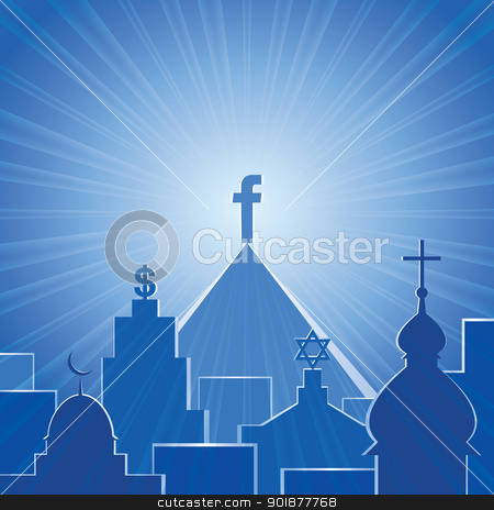 New religion. Social network. Vector stock vector clipart, Vector illustration, social network, new religion. Format eps10 by Alex Gontar