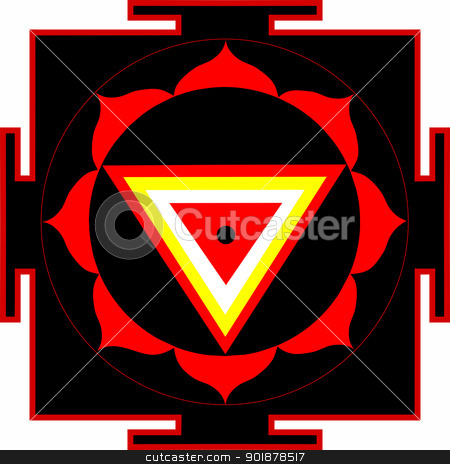 Shri Kali-Yantra stock vector clipart, Sacred yantra of Shrimati Kali by Viacheslav Belyaev