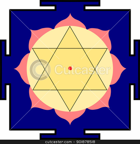 Shri Krishna-yantra stock vector clipart, Yantra of Bhagavan Shri Krishna by Viacheslav Belyaev